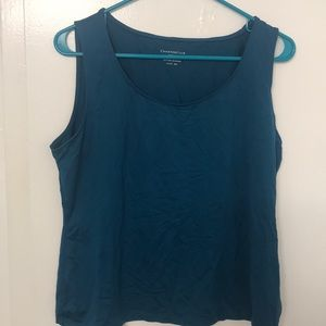 Charter club teal tank top size P/L
